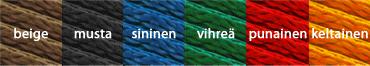 Verkkopyramidien köysien värivaihtoehdot